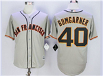 San Francisco Giants #40 Madison Bumgarner Grey Cool Base Jersey
