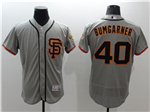 San Francisco Giants #40 Madison Bumgarner Alternate Road Grey Flex Base Jersey