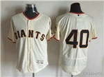 San Francisco Giants #40 Madison Bumgarner Cream Flex Base Jersey