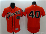 San Francisco Giants #40 Madison Bumgarner Orange Flex Base Jersey