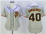 San Francisco Giants #40 Madison Bumgarner Women's Alternate Road Grey Cool Base Jersey