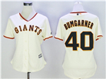 San Francisco Giants #40 Madison Bumgarner Women's Cream Cool Base Jersey