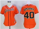 San Francisco Giants #40 Madison Bumgarner Women's Orange Cool Base Jersey