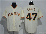 San Francisco Giants #47 Johnny Cueto Cream Cool Base Jersey