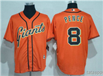 San Francisco Giants #8 Hunter Pence Orange Cool Base Jersey