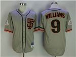 San Francisco Giants #9 Matt Williams 1989 Throwback Gray Jersey