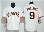 San Francisco Giants #9 Matt Williams 1989 Throwback White Jersey