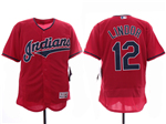 Cleveland Indians #12 Francisco Lindor 2019 Red Flex Base Jersey