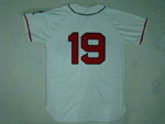 Cleveland Indians #19 Bob Feller 1948 Throwback Cream Jersey