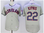 Cleveland Indians #22 Jason Kipnis Gray Flex Base Jersey