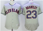 Cleveland Indians #23 Michael Brantley Gray Flex Base Jersey