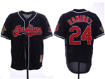 Cleveland Indians #24 Manny Ramirez Navy 1995 World Series Cooperstown Collection Cool Base Jersey