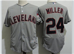 Cleveland Indians #24 Andrew Miller Gray Flex Base Jersey