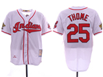 Cleveland Indians #25 Jim Thome White 1995 World Series Cooperstown Collection Cool Base Jersey