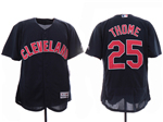 Cleveland Indians #25 Jim Thome 2019 Alternate Navy Flex Base Jersey