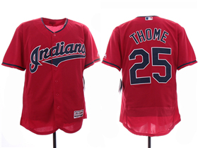 Cleveland Indians #25 Jim Thome 2019 Red Flex Base Jersey