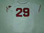 Cleveland Indians #29 Satchel Paige 1948 Throwback Cream Jersey