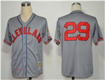 Cleveland Indians #29 Satchel Paige 1948 Throwback Gray Jersey