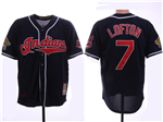 Cleveland Indians #7 Kenny Lofton Navy 1995 World Series Cooperstown Collection Cool Base Jersey