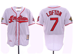 Cleveland Indians #7 Kenny Lofton White 1995 World Series Cooperstown Collection Cool Base Jersey