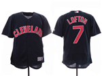 Cleveland Indians #7 Kenny Lofton 2019 Alternate Navy Flex Base Jersey