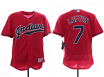 Cleveland Indians #7 Kenny Lofton 2019 Red Flex Base Jersey