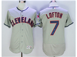 Cleveland Indians #7 Kenny Lofton Gray Flex Base Jersey