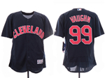 Cleveland Indians #99 Ricky Vaughn 2019 Alternate Navy Flex Base Jersey