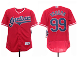 Cleveland Indians #99 Ricky Vaughn 2019 Red Flex Base Jersey
