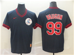 Cleveland Indians #99 Ricky Vaughn Cooperstown Throwback Black Jersey