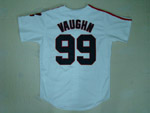 Cleveland Indians #99 Rick Vaughn Throwback White Jersey