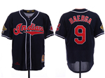 Cleveland Indians #9 Carlos Baerga Navy 1995 World Series Cooperstown Collection Cool Base Jersey