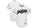 Cleveland Indians White 2018 Memorial Day Flex Base Team Jersey
