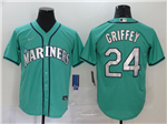 Seattle Mariners #24 Ken Griffey Jr. Green 2020 Cool Base Jersey