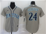 Seattle Mariners #24 Ken Griffey Jr. Gray 2020 Cool Base Jersey