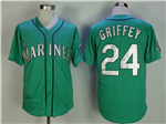 Seattle Mariners #24 Ken Griffey Jr. 1995 Throwback Green Jersey