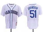 Seattle Mariners #51 Randy Johnson White Cooperstown Cool Base Jersey