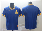 Seattle Mariners Cooperstown Throwback Blue Team Jersey