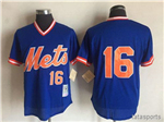 New York Mets #16 Dwight Gooden Royal Royal Cooperstown Mesh Batting Practice Jersey