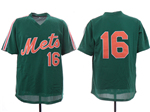 New York Mets #16 Dwight Gooden Green Throwback Mesh Jersey