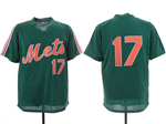 New York Mets #17 Keith Hernandez Green Throwback Mesh Jersey