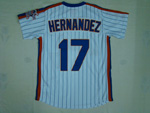 New York Mets #17 Keith Hernandez 1986 White Pinstripe Throwback Jersey