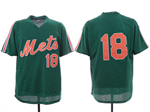 New York Mets #18 Darryl Strawberry Green Throwback Mesh Jersey