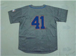 New York Mets #41 Tom Seaver Throwback Gray Jersey