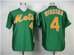 New York Mets #4 Lenny Dykstra Throwback Green Jersey