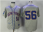 New York Mets #56 Tug McGraw 1965 Throwback Gray Jersey