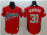 National League #31 Max Scherzer Red 2018 MLB All-Star Game Home Run Derby Jersey