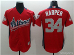 National League #34 Bryce Harper Red 2018 MLB All-Star Game Home Run Derby Jersey
