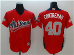 National League #40 Willson Contreras Red 2018 MLB All-Star Game Home Run Derby Jersey