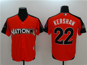 National League #22 Clayton Kershaw Red 2017 MLB All-Star Game Home Run Derby Jersey